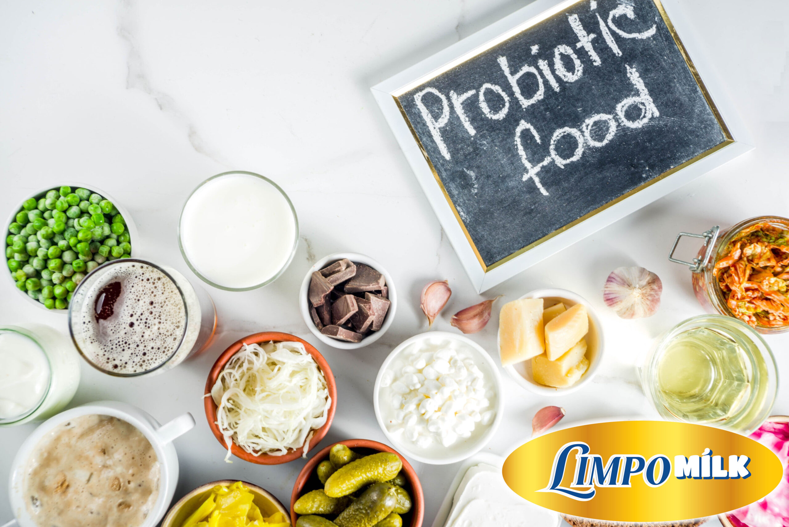 Đồ ăn có chứa probiotic.